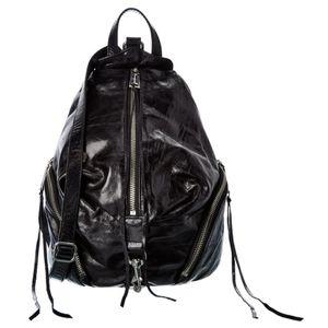 Rebecca Minkoff Black Leather Backpack Purse Medium Julian Women's Bag